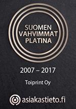 Suomen vahvimmat yritykset - Toiprint Oy