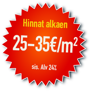 Valokuvatapetit edullisesti alkaen 25 eur/neliö